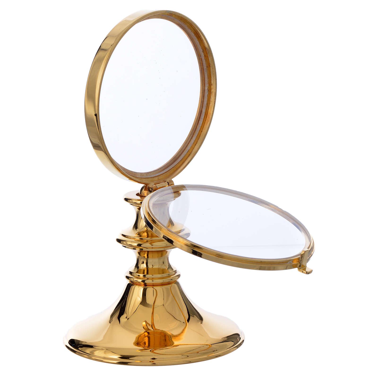 Teca ottone dorato h 16 cm ostia 7,5 cm 4