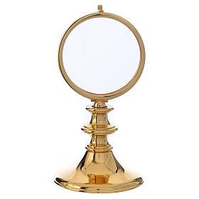 Teca ottone dorato h 16 cm ostia 7,5 cm s1