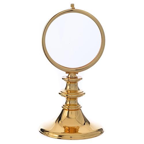Teca ottone dorato h 16 cm ostia 7,5 cm 1