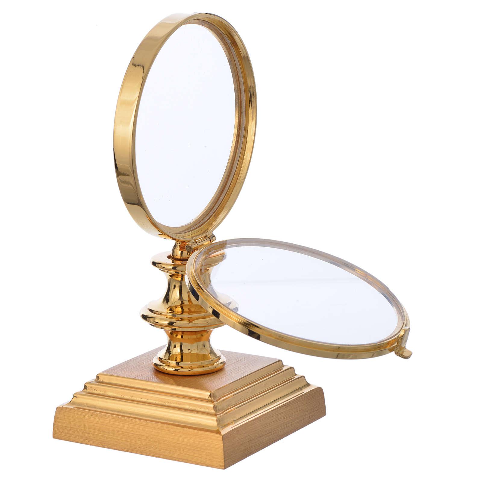 Teca ostia 7,5 cm ottone dorato h 15 cm 4