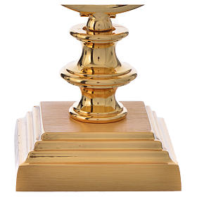 Chapel Monstrance 7,5cm in gold-plated brass H 15cm s3
