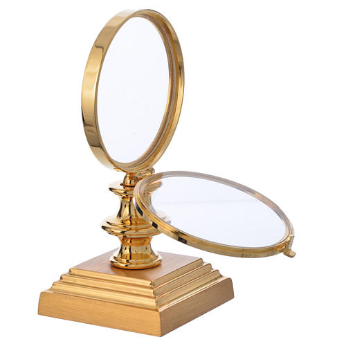 Chapel Monstrance 7,5cm in gold-plated brass H 15cm 2