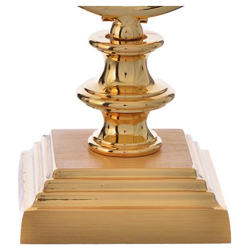 Chapel Monstrance 7,5cm in gold-plated brass H 15cm 3
