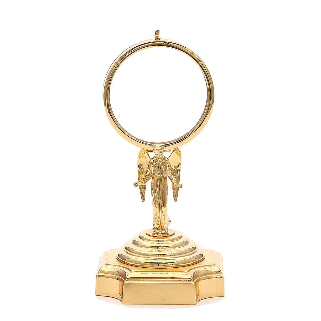 Teca ottone dorato con Angelo h 18 cm 4