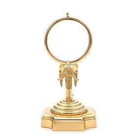 Teca ottone dorato con Angelo h 18 cm s1