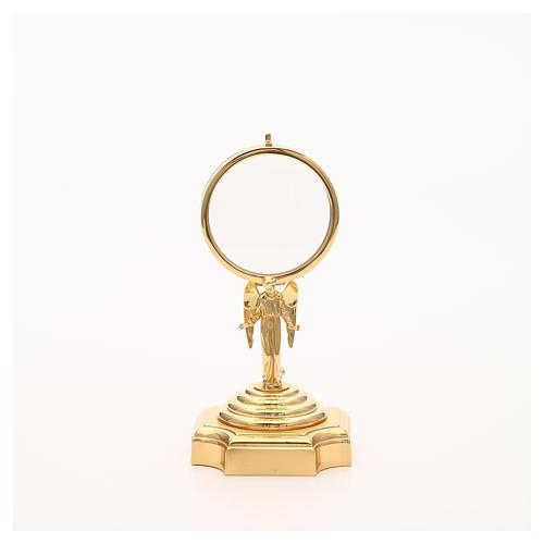 Teca ottone dorato con Angelo h 18 cm 5