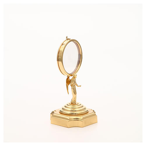 Teca ottone dorato con Angelo h 18 cm 8