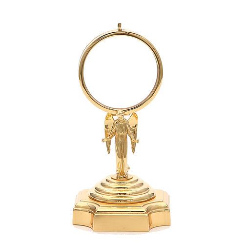 Teca ottone dorato con Angelo h 18 cm 1