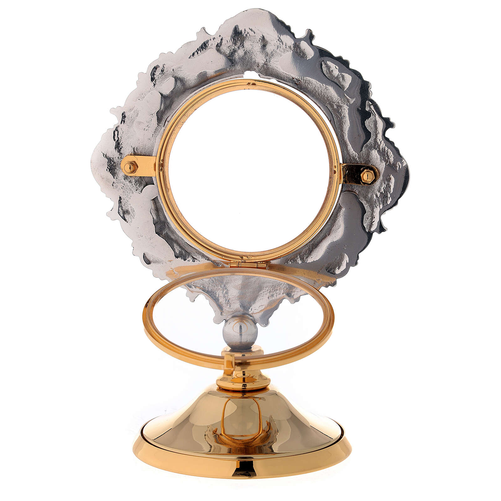 Monstrance made of brass with stones and 4 evangelists 4