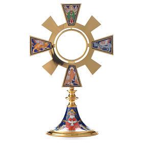 Ostensoir soleil émail 4 évangélistes s5