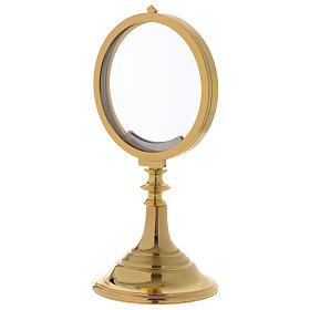 Chapel Monstrance, magna host in gold-plated brass 28 cm s2