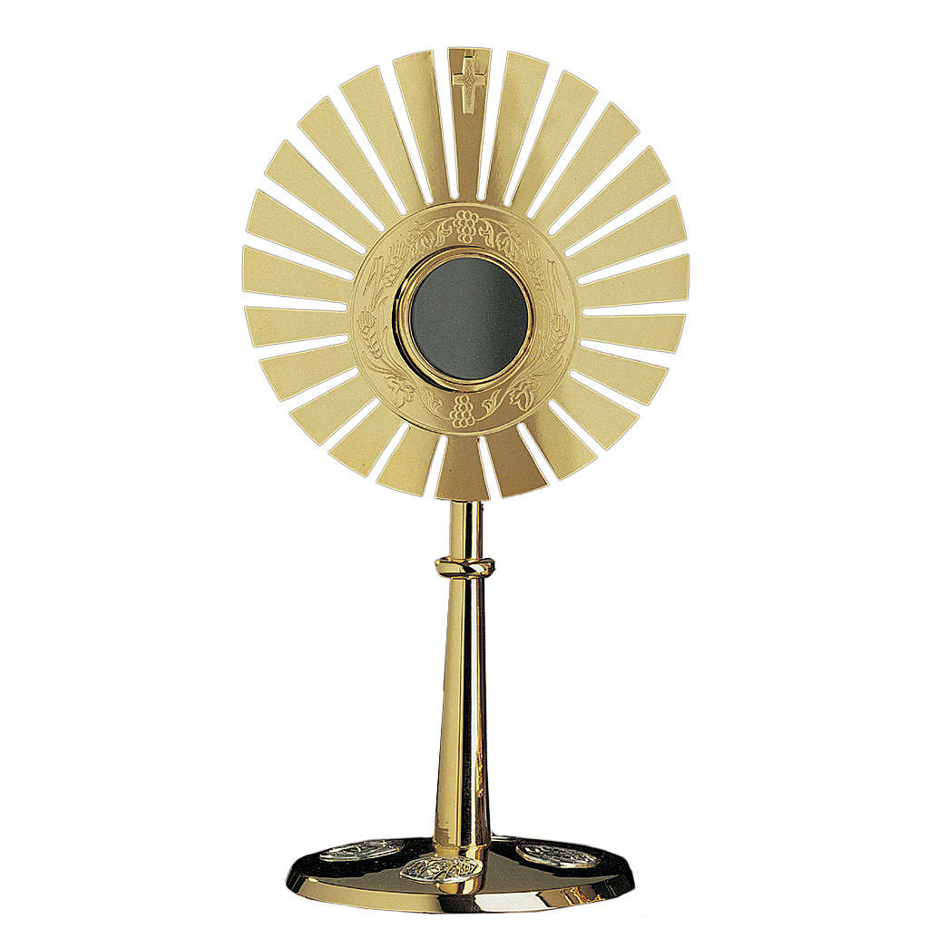 Ostensorio Molina raggi ottone dorato 4