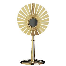 Ostensorio Molina raggi ottone dorato s1