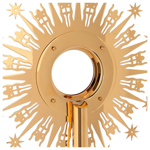 Monstrance Molina with stars, brass 11