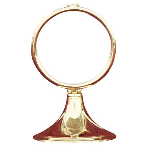 Monstrance shrine gold-plated brass 13cm 1