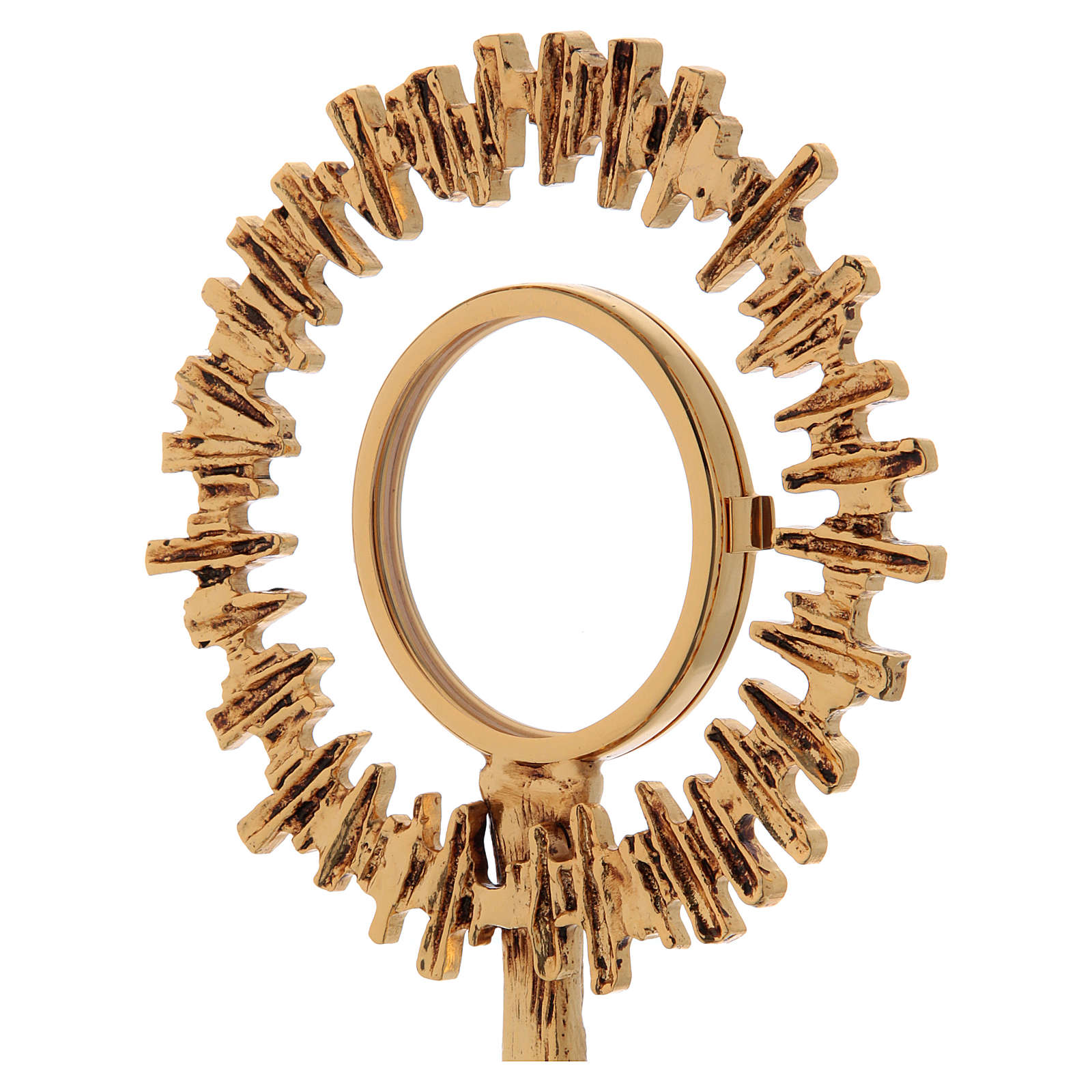 Teca da esposizione ottone fuso dorato 29 cm 4