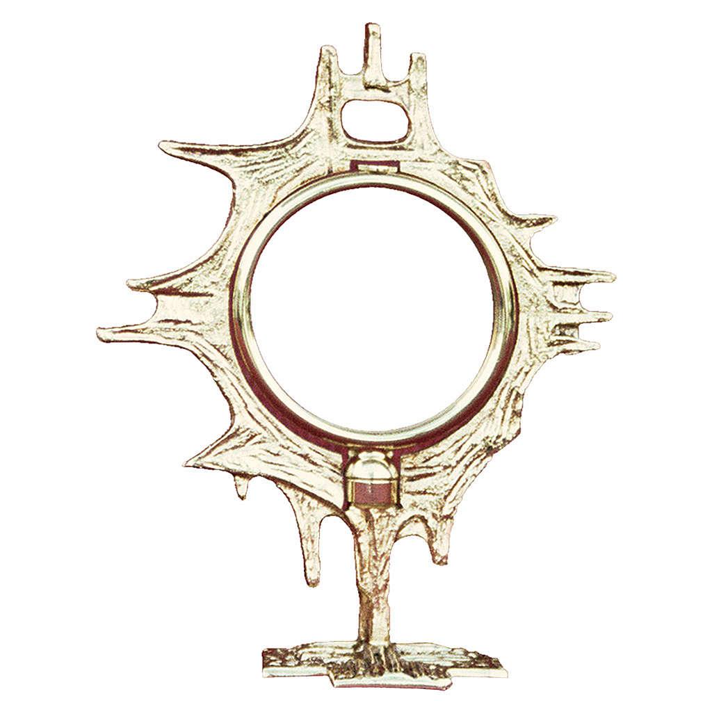 Teca da esposizione ottone fuso dorato 19 cm 4