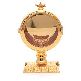 Monstracje Kustodia Relikwiarze metal: Kustodia eucharystyczna hostia 10 cm pozłacany mosiądz
