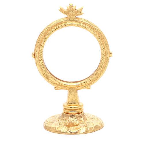 Chapel Monstrance simple brass, 6.5cm host 1