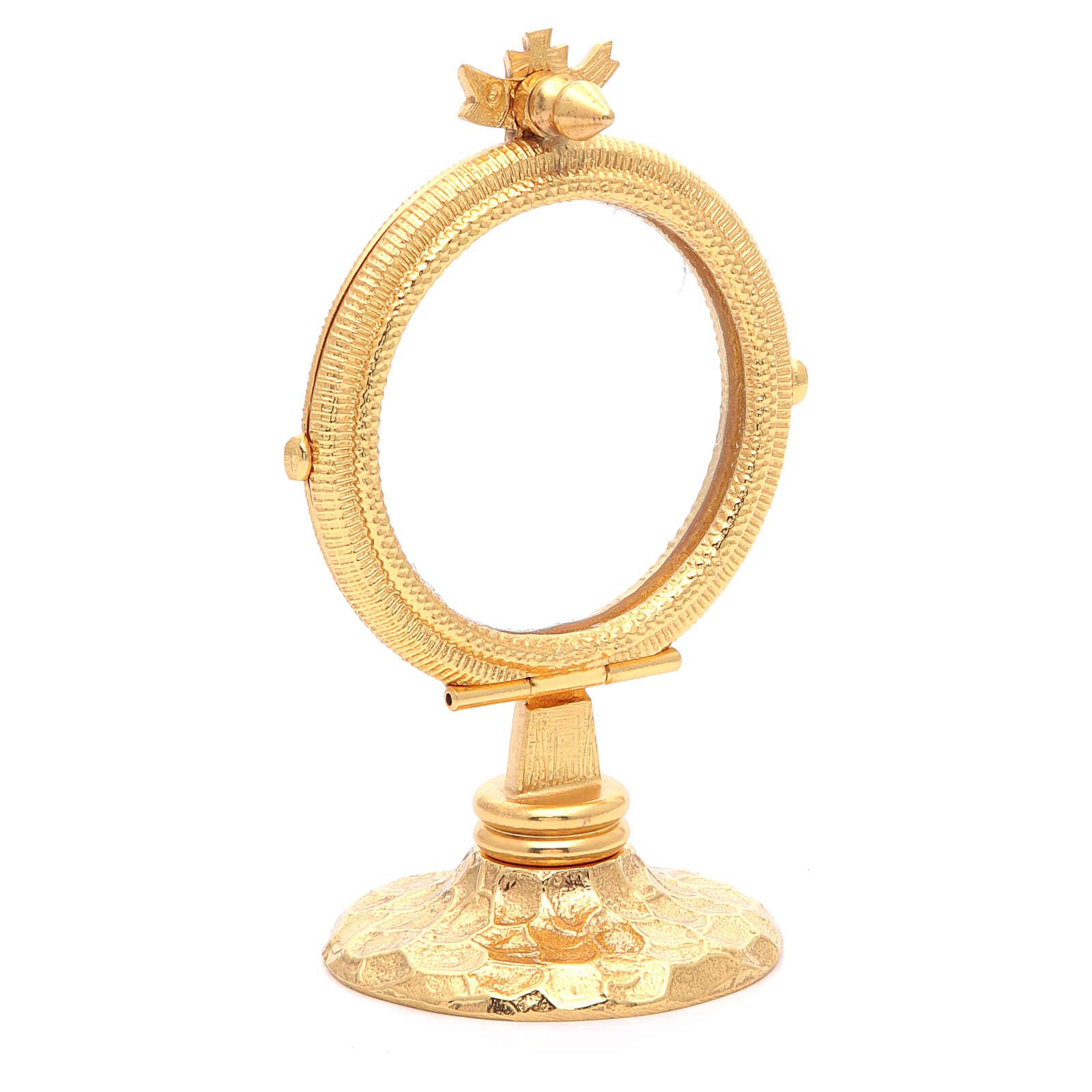 Chapel Monstrance simple brass, 6.5cm host 4