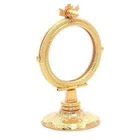 Chapel Monstrance simple brass, 6.5cm host s3