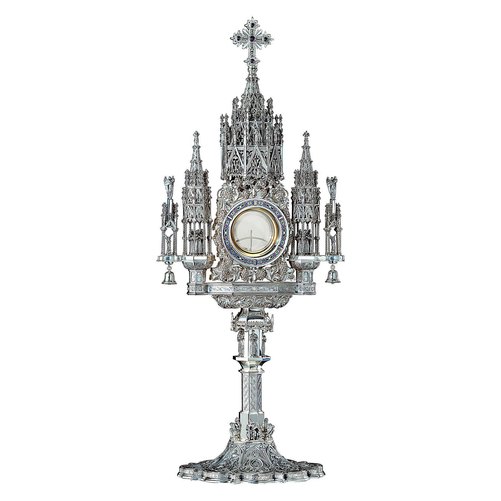 Ostensorio Molina stile Gotico argento massiccio 925 4