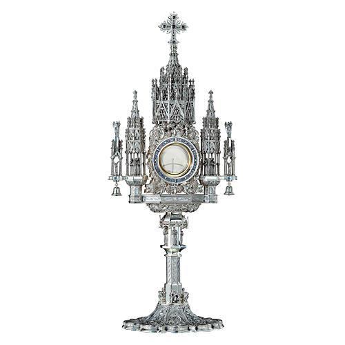 Ostensorio Molina stile Gotico argento massiccio 925 1