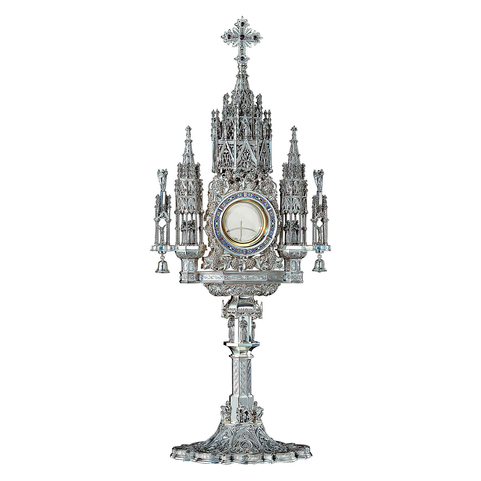 Sterling silver monstrance in Gothic style, Molina 4
