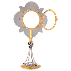 Ostensorio dorado latón fundido diámetro 11 cm s6