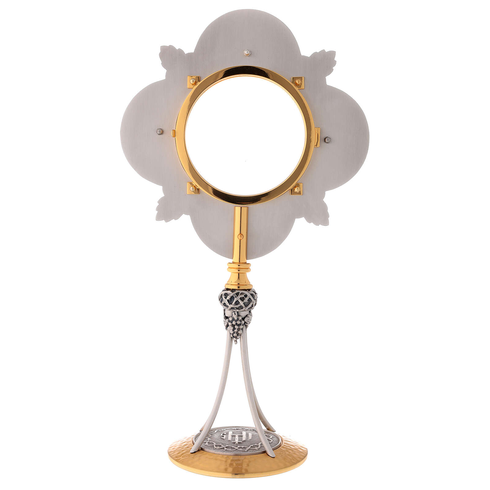 Gold plated monstrance cast brass 4 in diameter 4