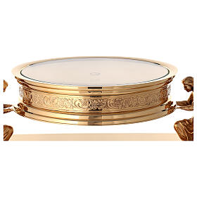 Gothic style thabor in gold-plated brass, Molina s4