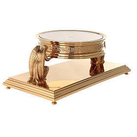 Gothic style thabor in gold-plated brass, Molina s5