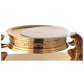 Gothic style thabor in gold-plated brass, Molina s10
