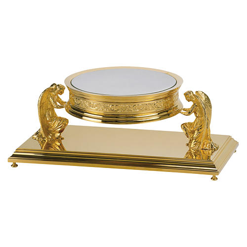 Gothic style thabor in gold-plated brass, Molina 1