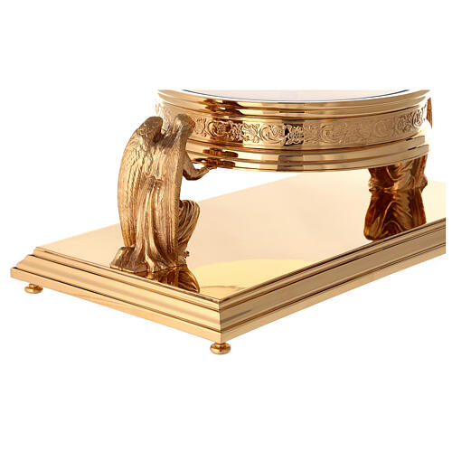 Gothic style thabor in gold-plated brass, Molina 8