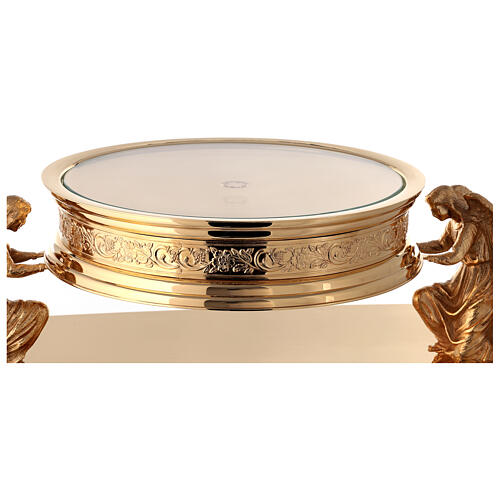 Gothic style thabor in gold-plated brass, Molina 9