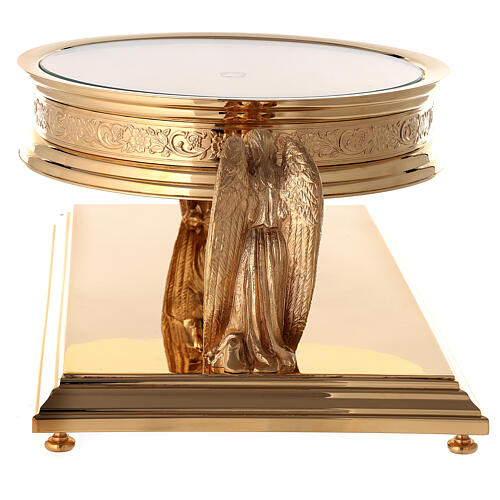 Gothic style thabor in gold-plated brass, Molina 11