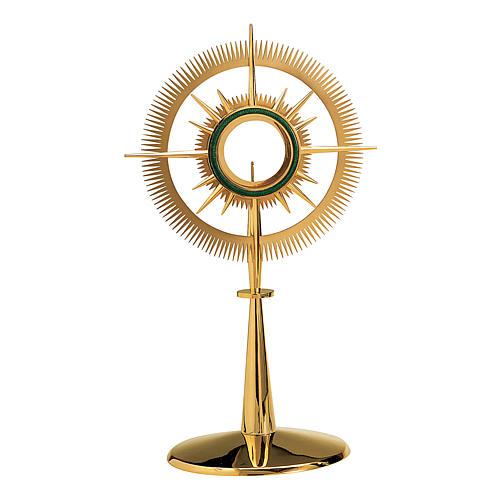 Ostensorio Molina stile moderno smalto a fuoco altezza 60cm ottone dorato 1