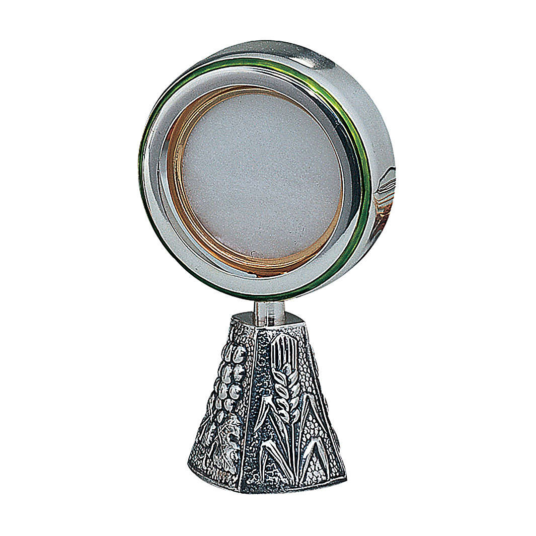 Wheat and grapes monstrance in sterling silver Molina 4