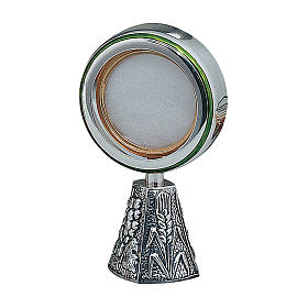 Wheat and grapes monstrance in sterling silver Molina s1