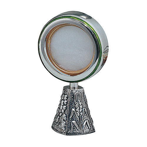 Wheat and grapes monstrance in sterling silver Molina 1