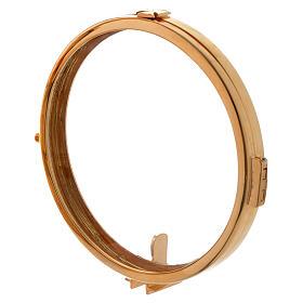 Reliquiario h 25 cm ottone dorato s12