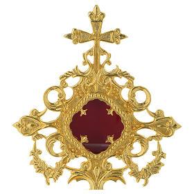 Reliquiario h 25 cm ottone dorato s2