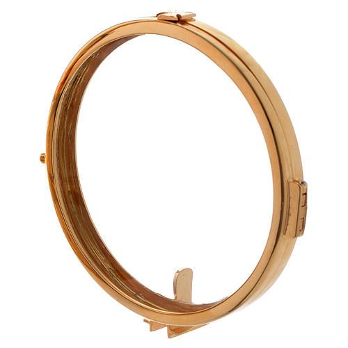 Reliquiario h 25 cm ottone dorato 12