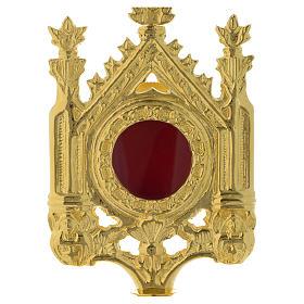 Reliquiario h 30 cm ottone dorato s2