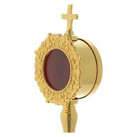 Reliquiario semplice h 20 cm ottone dorato s2