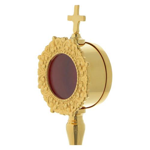 Reliquiario semplice h 20 cm ottone dorato 2