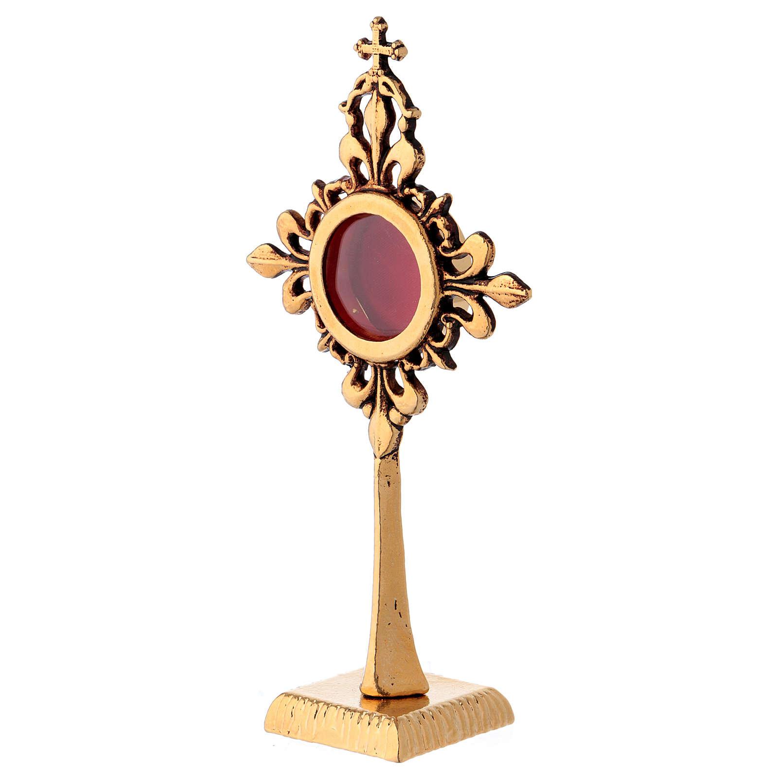 Reliquiario in bronzo dorato 20 cm 4