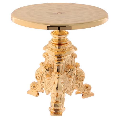 Support for monstrance in golden brass 23 cm - gold plating 24K 1