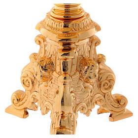 Trono de latón dorado 23 cm - baño oro 24 k s2